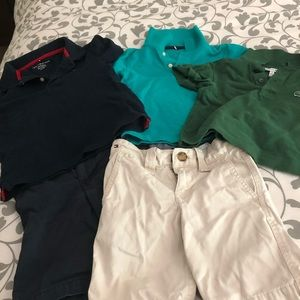 Boys lot of polos and shorts